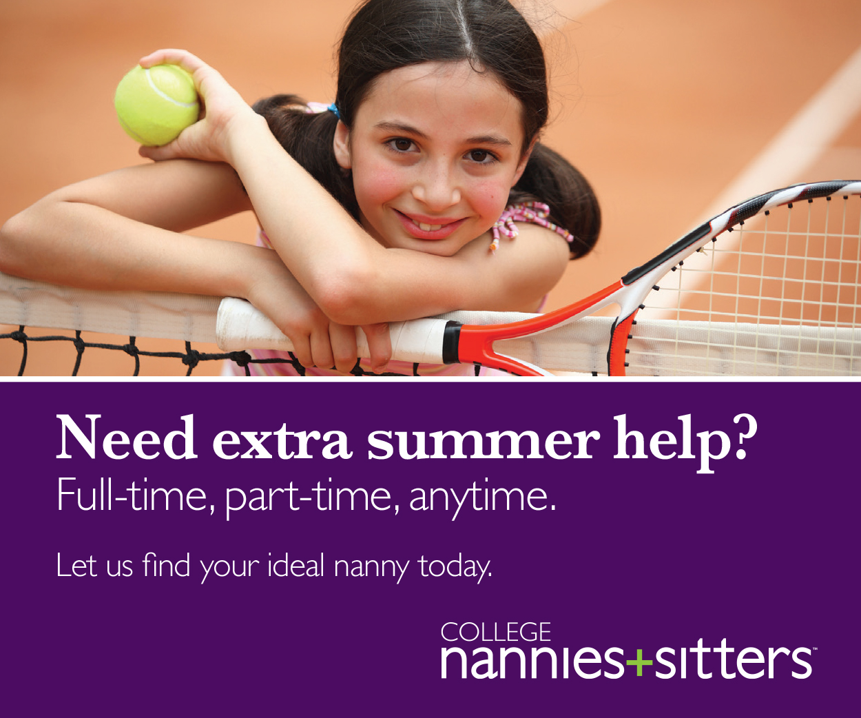 Ad for College Nannies and Tutors